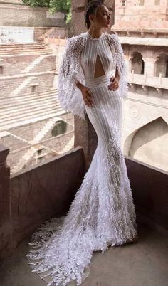 lior charchy 2018 high neck sexy fit and flare Wedding Dresses - Braut Wedding Dresses 2018, Bridal Dresses, Bridesmaid Dresses, Dresses Elegant, Fit And Flare Wedding Dress, Vestidos Vintage, Looks Style, Beautiful Gowns, Dream Dress