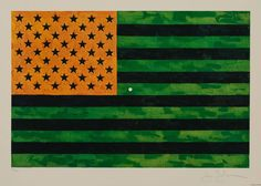 Jasper Johns, Flag (Moratorium), 1969, Heritage Auctions: October Surprise