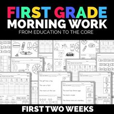 FREE Morning Work for the First Two weeks!!!