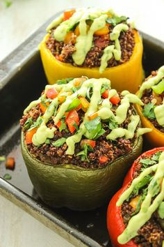 Mexican Quinoa Stuffed Peppers | Recipe by Thefitchen.com