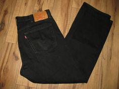 Levis 501 Mens Levi Black Jeans 40X32 Regular Fit Straight Leg Button Fly #Levis #RegularFitStraightLeg