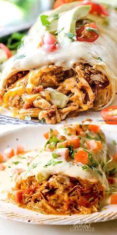 Chicken Burritos, Baked Burritos, Chicken Nachos, Smothered Burritos, Chicken Burrito Recipes, Bbq Chicken Bake, Chimichanga Recipe Chicken, Healthy Dinner With Chicken, Chimichangas Chicken