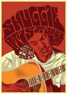 Iconic Poster: Shuggie Otis gig poster by Greg Bunbury