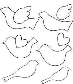 Die 95 Besten Bilder Von Vögel Basteln Bird Patterns Little Birds