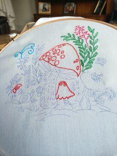 Embroidery mushroom
