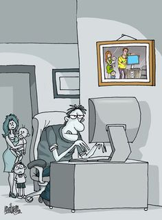 Casado con el ordenador