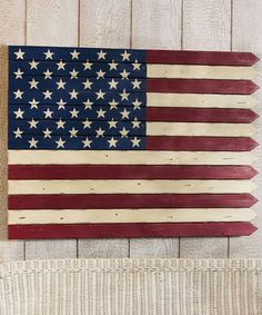 Look what I found on #zulily! American Flag Picket Fence Wall Art #zulilyfinds