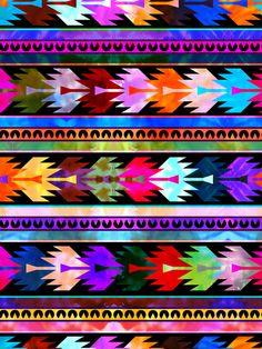 Mexicali #2 Art Print by scahtzibrown #pattern #tribal #mexican