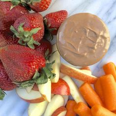 Chocolate Peanut Butter Fruit Dip - Fitnessmagazine.com