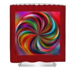 Swirling Color by Kaye Menner Shower Curtain by Kaye Menner
