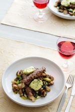 Minute Steak Roulads with Cheese and Herb Butter
