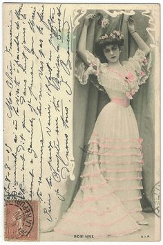 Gabrielle Robinne, silent film actress, 1905 postcard