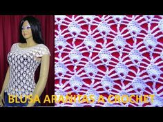 BLUSA ARAÑITAS A CROCHET PARA ZURDOS Y ZURDAS - YouTube Crochet Tote, Textiles, Summer Patterns, Knitting Stitches, Neck Warmer, Crochet Patterns, Spring, Crocodiles, Youtube