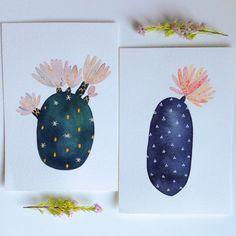 Original Painting - Baby Cactus 1- by Marisa Redondo