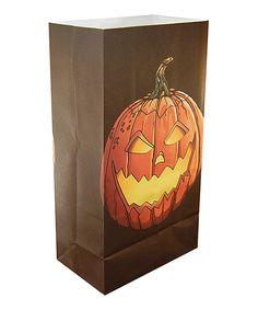 Look at this #zulilyfind! Jack-O-Lantern Luminaria Bag - Set of 24 by LumaBase #zulilyfinds