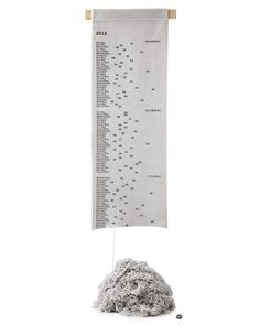 interesting.......GREGOR KNITTED SCROLL CALENDAR | 2012 planner, agenda, month, date, time | UncommonGoods