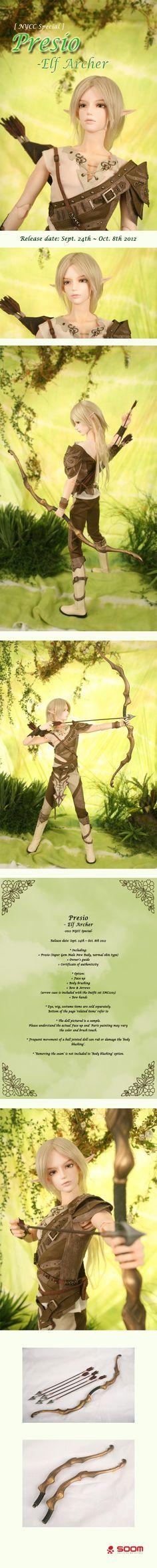 the SOOM emporium Presio - Elf Archer #bjd