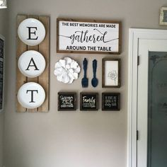 room wall decor Home Sign / Large Wood Sign / Story Of Us Sign / Wood Si. - room wall decor Home Sign / Large Wood Sign / Story Of Us Sign / Wood Sign / Farmhouse Styl - Dinning Room Wall Decor, Decoration Bedroom, Dining Room Walls, Dinning Room Ideas, Wall Decor For Kitchen, Signs For Kitchen, Diy Wall Decor, Kitchen Wall Decorations, Dinning Room Colors