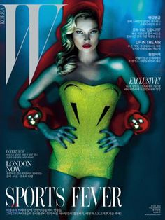 Kate Moss covers the July 2012 issue of W Korea. Photographed by Mert & Marcus, this image is a Vogue UK reprint. ~