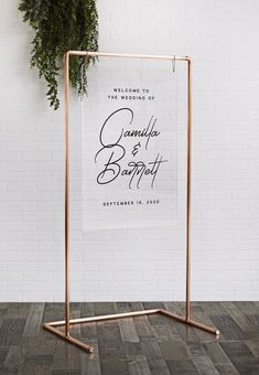 """Copper Pipe Wedding Frame - Copper Sign Stand - Wedding Backdrop - """" You are in the right place about trends board Here we offer you the most beautiful pictures ab - Cool Backdrops, Diy Backdrop Stand, Diy Wedding Backdrop, Wedding Expo Booth, Diy Photo Booth Backdrop, Backdrop Frame, Copper Frame, Mr And Mrs Wedding, Wedding Welcome Signs"""