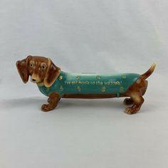 Cowboy Cow boy Red Doxy Dachshund Dog Figurine Collection