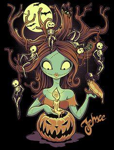 """Knotty Nightmare"" by Jehsee - Sally gets all knotted up about Halloween. Arte Tim Burton, Tim Burton Kunst, Nightmare Before Christmas, Sally Nightmare, Disney Love, Disney Art, Princesas Disney Dark, Dark Side, Fanart"