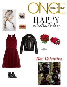 Once Upon a Time: Autumn Gibson-Hatter (Goldilocks) Inspired Valentine's Day Outfit by nerdbucket on Polyvore featuring polyvore fashion style New Look Acne Studios LifeStride Blue Nile Godiva Once Upon a Time clothing
