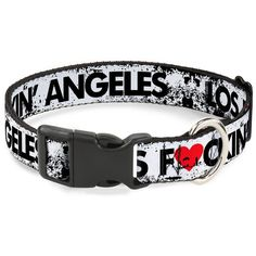 Buckle-Down 13-18' Los Angeles Heart Weathered White/Black/Red Plastic Clip Collar, Wide Small * Visit the image link more details. (This is an affiliate link and I receive a commission for the sales)