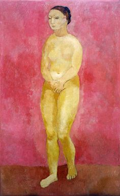 Pablo Picasso, Standing female nude, 1906 (rose period)