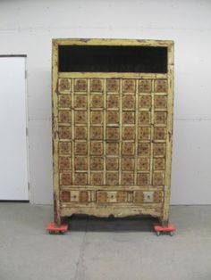 Beautiful Large Chinese Antique Painted Apothocary Chest 11ny050 - Blowout