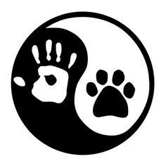 Dog Tattoos, Body Art Tattoos, Cat Logo, Cat Paws, Logo Sticker, Dog Quotes, Yin Yang, Dog Art, Painted Rocks