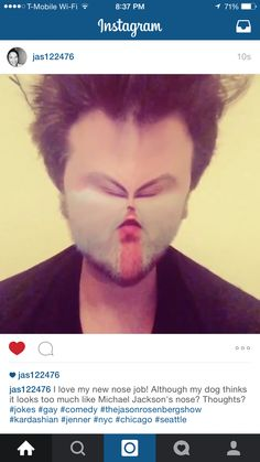 HOW YOU LIKE MY NEW NOSE Funny Instagram Posts, News Today