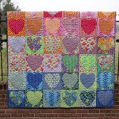 Faded Hearts Quilt - Tabby Road by Tula Pink