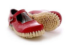 """Fantich & Young's Toothy Shoe Sculptures for their """"Apex Predator"""" Series   Hi-Fructose Magazine"""