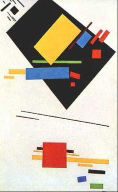 Dipinto suprematista.  1915. Stedelijk Museum Amsterdam