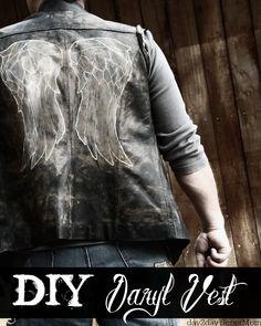 DIY Costume: the 'Daryl Vest' ~ see my Walking Dead money-saving tutorial on day2daySuperMom.com