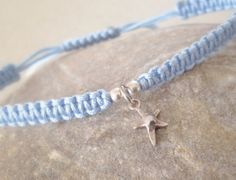 Items similar to Delicate sterling silver mini star fish cross pendant macrame/friendship bracelet on Etsy Stretch Bracelets, Starfish, Delicate, Sterling Silver, Unique Jewelry, Mini, Handmade Gifts, Crafts, Etsy