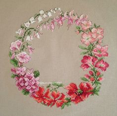 This Pin was discovered by Ayş Cross Stitch Cushion, Cross Stitch Rose, Cross Stitch Flowers, Hand Embroidery Videos, Embroidery Patterns, Cross Stitch Designs, Cross Stitch Patterns, Cross Stitching, Cross Stitch Embroidery