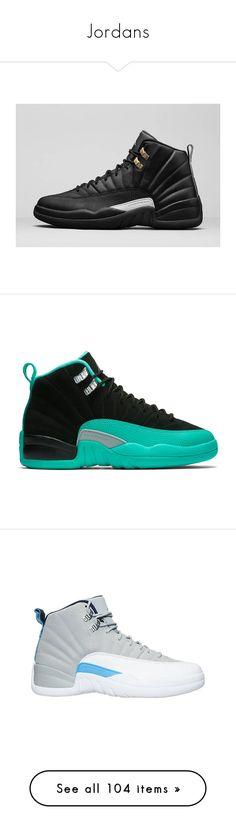 """Jordans"" by nasza100 ❤ liked on Polyvore featuring jordan 12, shoes, jordans, sneakers, men's fashion, men's shoes, dad shoes, mens shoes, mens slipon shoes and nike mens shoes"