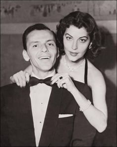Sinatra in an undated picture with Ava Gardner, his second wife whom he adored his whole life.