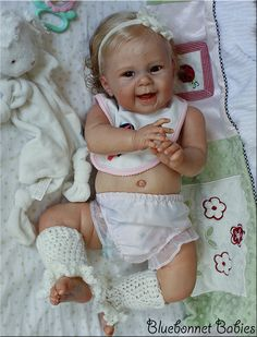 "Reborn ""Maizie"" doll kit sculpted by Andrea Arcello and Reborn by Bluebonnet Babies"