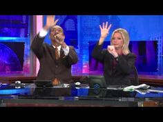 WGN-TV News Anchors Demonstrate an Elaborate Handshake During a Commercial Break