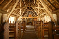 Jamestown Church Interior, Historic Jamestown Settlement