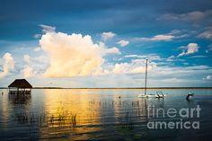A Moment In A Jump~Yuri Santin Mexico, lagoon in Bacalar