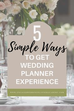 When you're new to wedding planning, experience is the best teacher out there. Here are some helpful tips on how to get experience as a new wedding planner. | successful wedding business, wedding business success, wedding planner services | Engaged Wedding Planner Academy | #weddingbiz #weddingplanner  #weddingplannerexperience