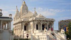 Jain temple in Antwerp Jain Temple, Indian Temple, Indian Architecture, Religious Architecture, Golden Temple Amritsar, African Paintings, Temple Design, European Tour, Indian Gods