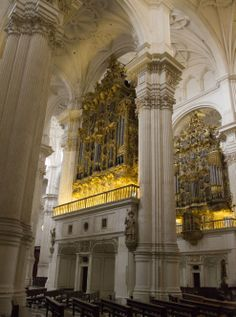 "Granada Cathedral - Granada, Spain - The organs seem to say, ""Let's Rock?"""