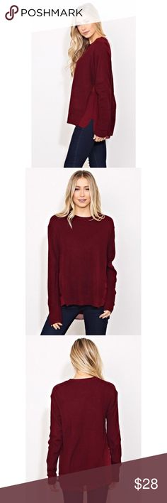 Selling this Rib Knit Sweater Top on Poshmark! My username is: jubisboutique. #shopmycloset #poshmark #fashion #shopping #style #forsale #Tops
