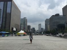 Walking in the middle of history - guanghwamoon, Seoul South Korea