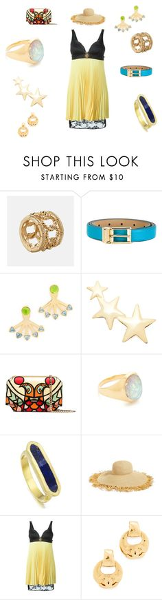 """Fashion coordination"" by emmamegan-5678 ❤ liked on Polyvore featuring Avenue, Dolce&Gabbana, Rebecca Minkoff, Kenneth Jay Lane, Givenchy, Jacquie Aiche, Monica Vinader, Eric Javits, FAUSTO PUGLISI and vintage"